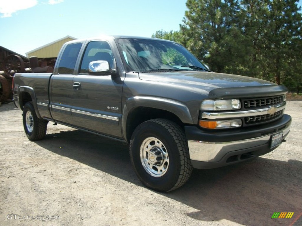 2000 medium charcoal gray metallic chevrolet silverado 2500 ls extended cab 4x4 72204245. Black Bedroom Furniture Sets. Home Design Ideas