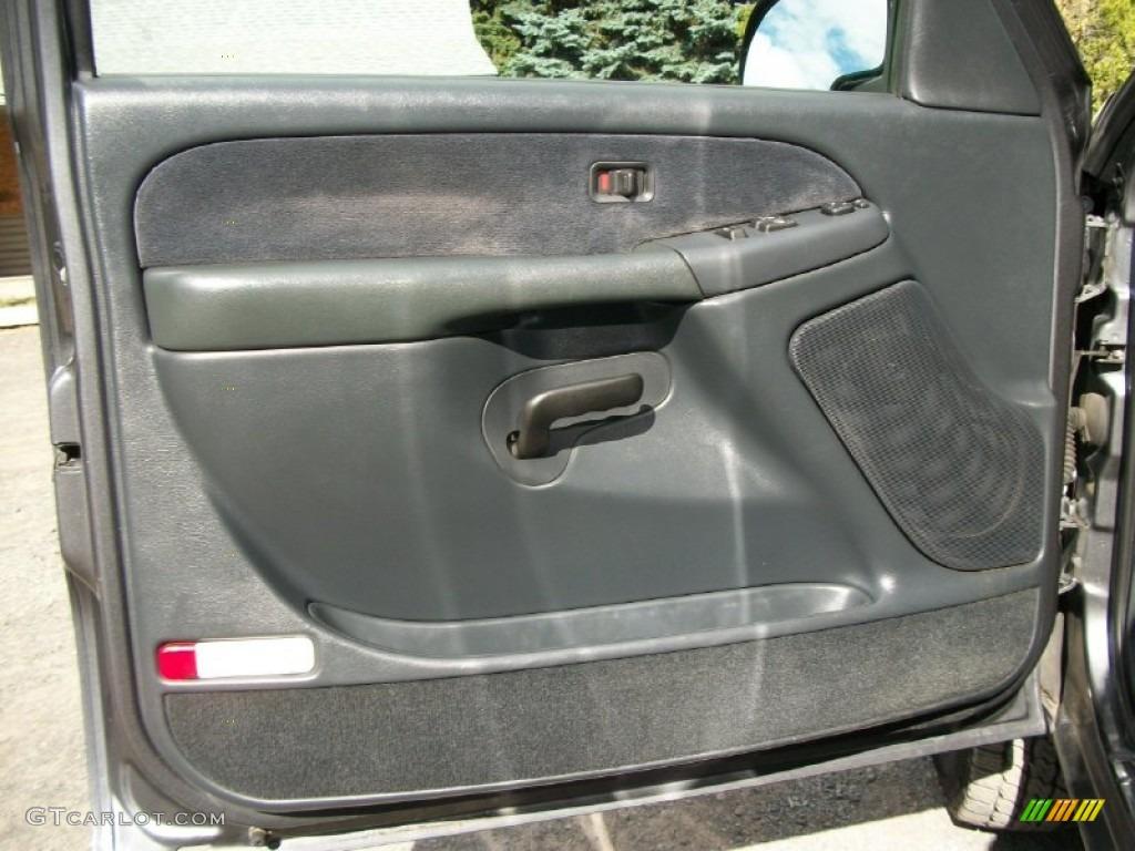 2000 Chevrolet Silverado 2500 Ls Extended Cab 4x4 Graphite Door Panel Photo 72241097