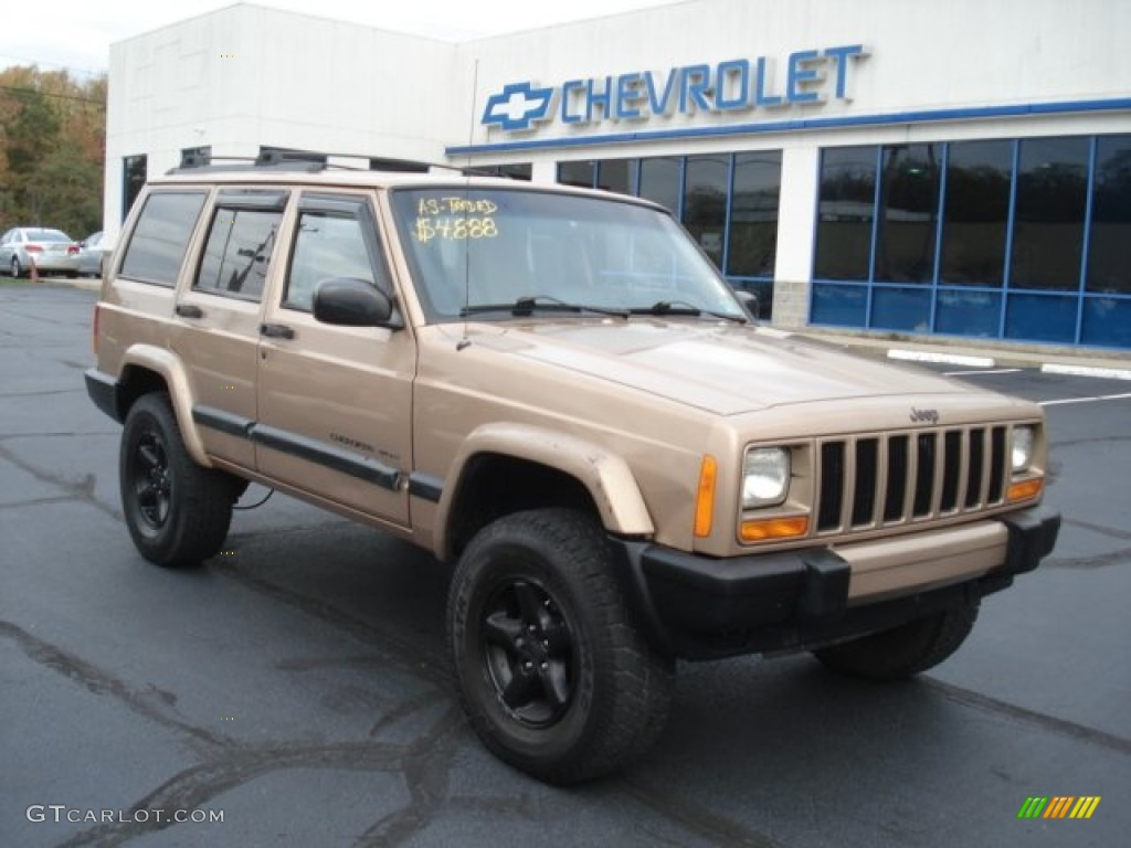 1999 Desert Sand Pearl Jeep Cherokee Classic 4x4 72203909 Photo 3 Car Color