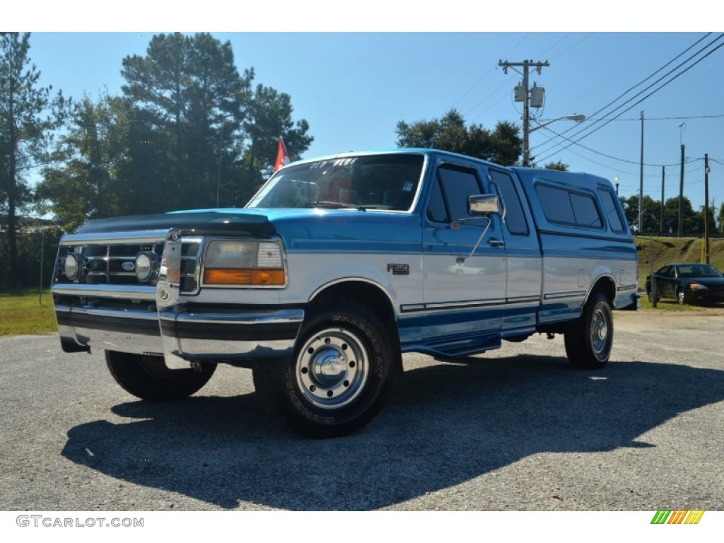 1995 Reef Blue Metallic Ford F250 Xlt Extended Cab 72245922 1980 Crew