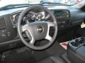 2012 Chevrolet Silverado 1500 Ebony Interior Steering Wheel Photo
