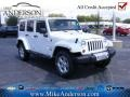 Bright White 2013 Jeep Wrangler Unlimited Sahara 4x4