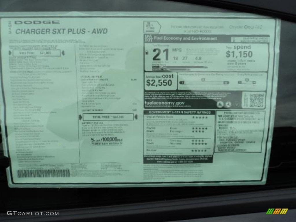 2013 Dodge Charger Sxt Plus Awd Window Sticker Photos