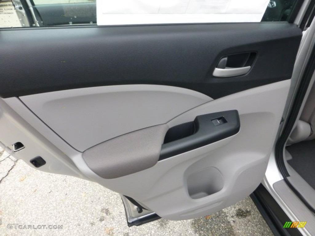 2013 CR-V LX AWD - Alabaster Silver Metallic / Gray photo #13