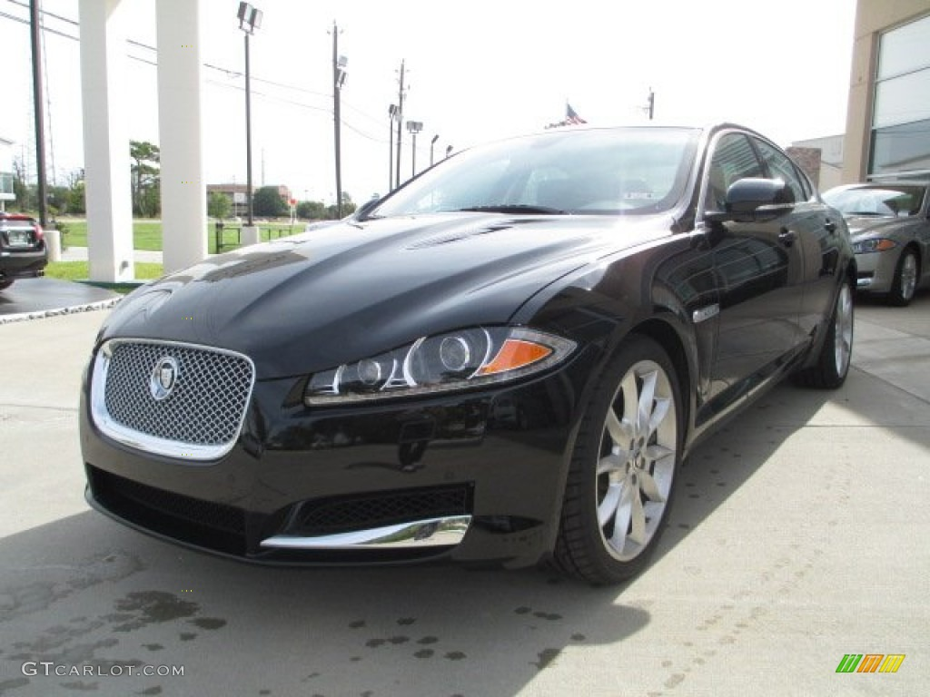 midnight black 2012 jaguar xf supercharged exterior photo 72305440. Black Bedroom Furniture Sets. Home Design Ideas