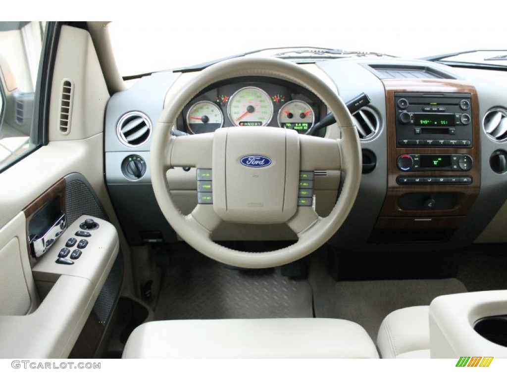 2004 ford f150 lariat supercrew tan dashboard photo. Black Bedroom Furniture Sets. Home Design Ideas