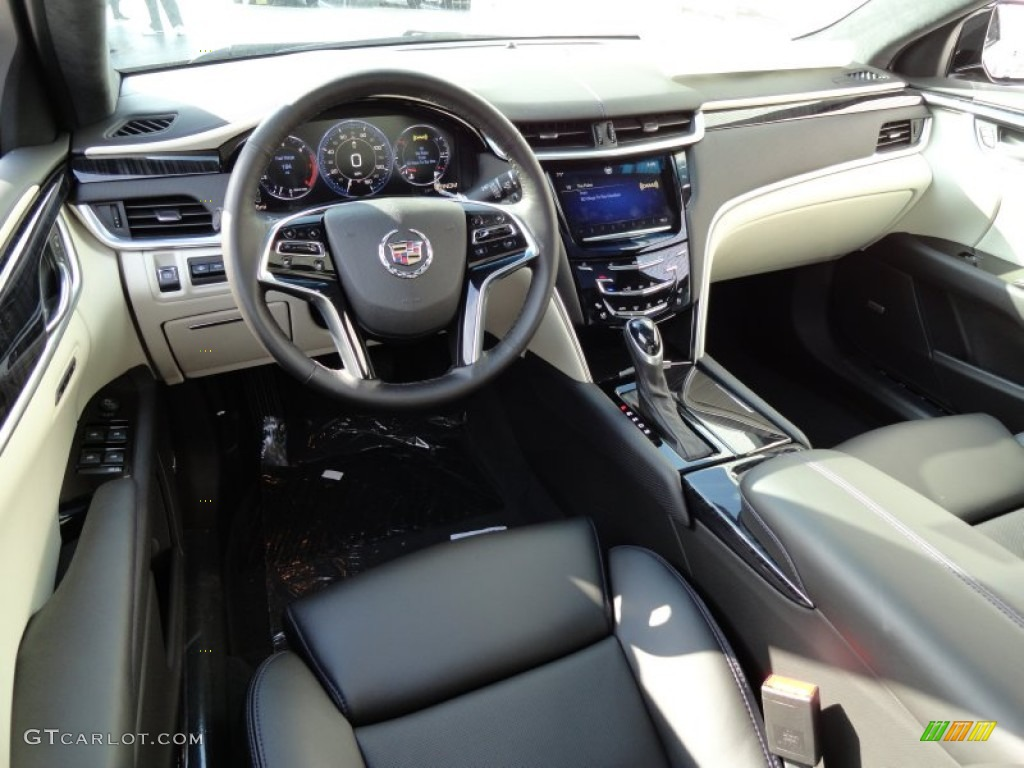 Jet Black/Light Wheat Opus Full Leather Interior 2013 Cadillac XTS Platinum  AWD Photo #