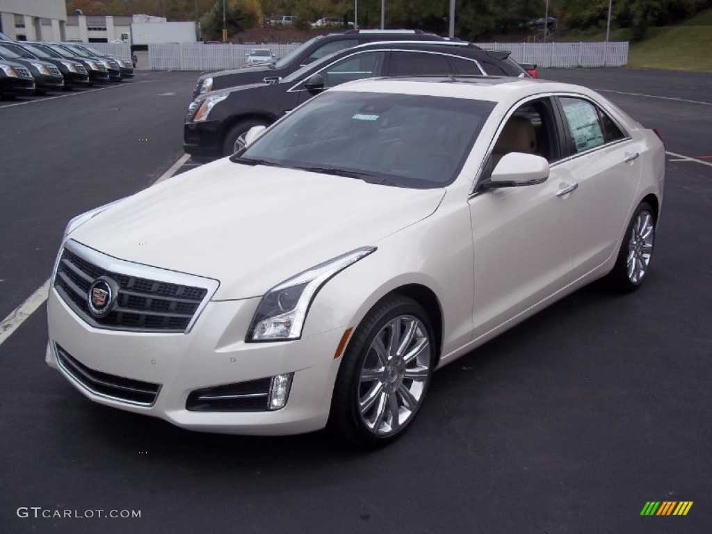 white diamond tricoat 2013 cadillac ats 3 6l premium awd exterior photo 72328655. Black Bedroom Furniture Sets. Home Design Ideas