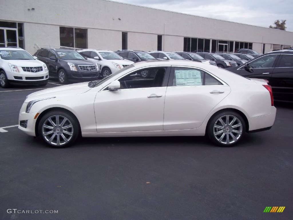 white diamond tricoat 2013 cadillac ats 3 6l premium awd exterior photo 72328670. Black Bedroom Furniture Sets. Home Design Ideas