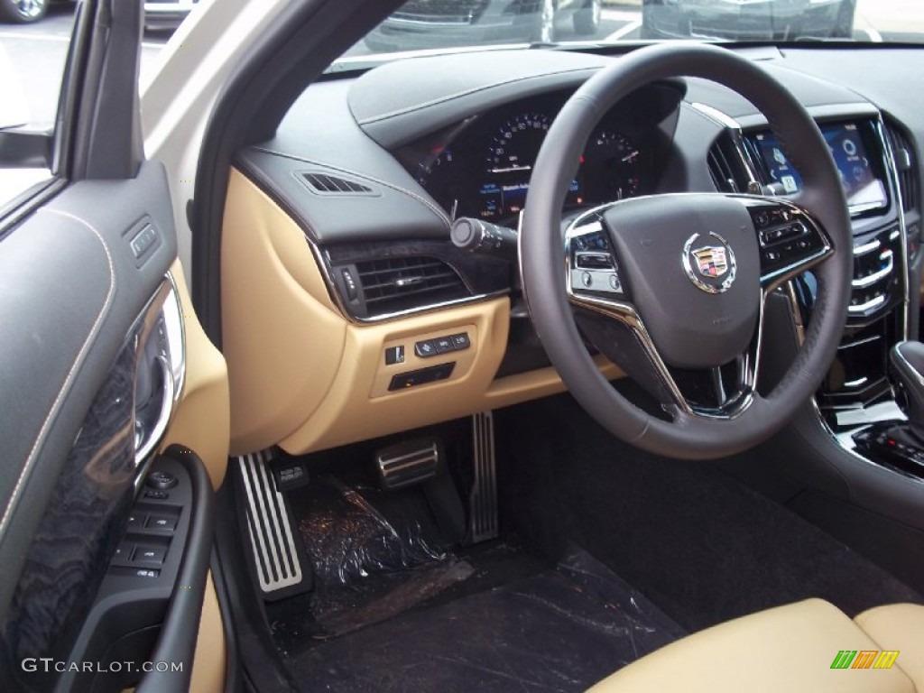 caramel jet black accents interior 2013 cadillac ats 3 6l premium awd photo 72328721. Black Bedroom Furniture Sets. Home Design Ideas