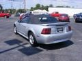 2001 Silver Metallic Ford Mustang V6 Convertible  photo #3