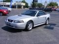 2001 Silver Metallic Ford Mustang V6 Convertible  photo #11