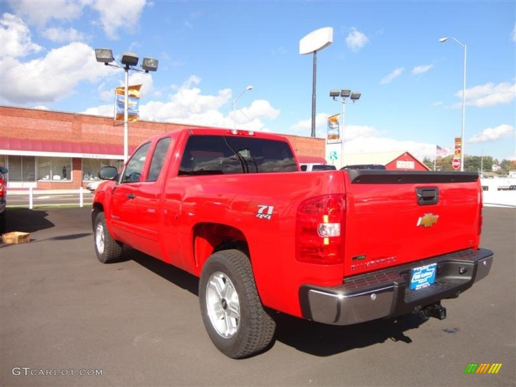 2012 Silverado 1500 LT Extended Cab 4x4 - Victory Red / Light Titanium/Dark Titanium photo #3
