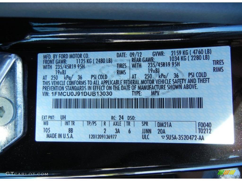 Ford Tuxedo Black Metallic Paint Code