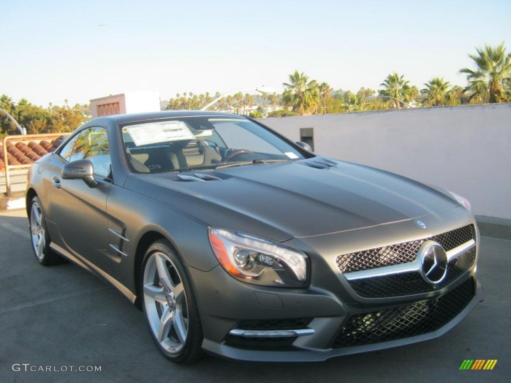 2013 matte shadow grey metallic mercedes benz sl 550 for Mercedes benz color