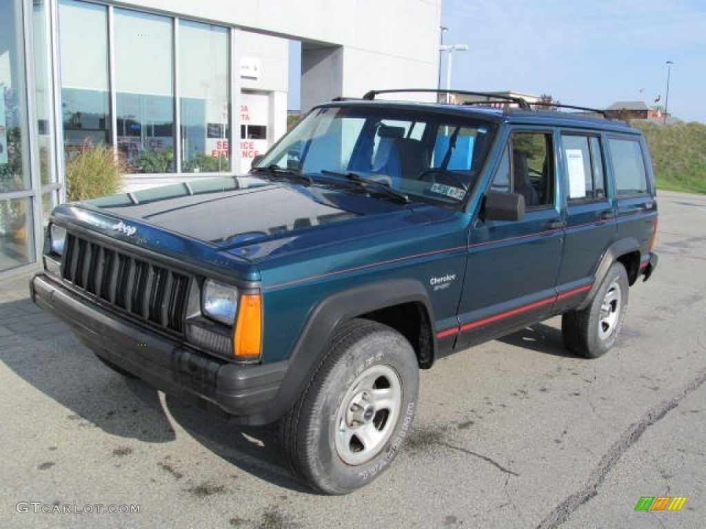 1996 Emerald Green Pearl Jeep Cherokee Sport 4wd 72346722 Photo 2 Gtcarlot Com Car Color Galleries