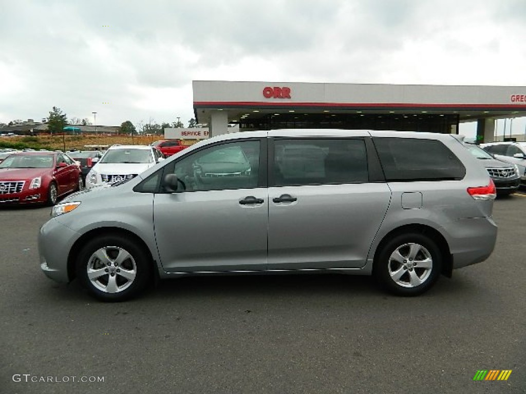 2011 Sienna  - Silver Sky Metallic / Light Gray photo #6
