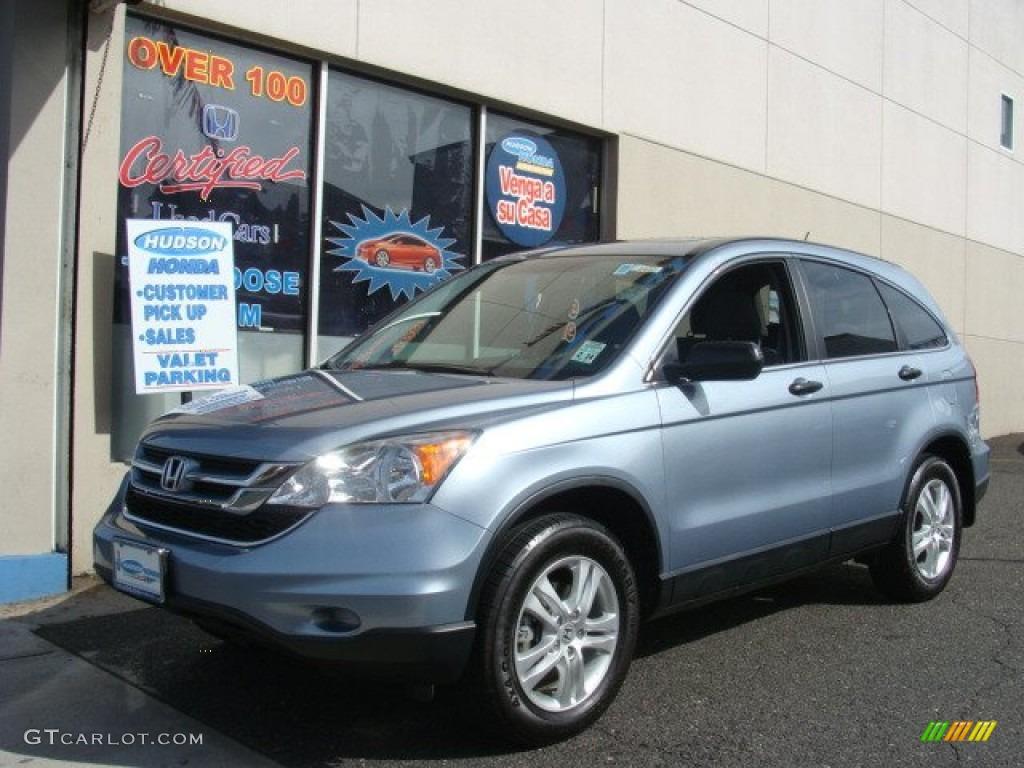 2010 CR-V EX AWD - Glacier Blue Metallic / Gray photo #1