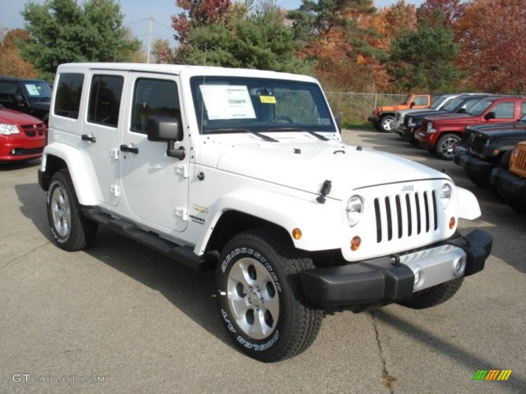 bright white 2013 jeep wrangler unlimited sahara 4x4 exterior photo 72374763. Black Bedroom Furniture Sets. Home Design Ideas