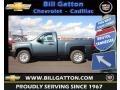 2013 Blue Granite Metallic Chevrolet Silverado 1500 Work Truck Regular Cab  photo #1