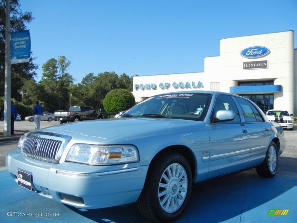2011 Grand Marquis LS Ultimate Edition - Light Ice Blue Metallic / Light Camel photo #1