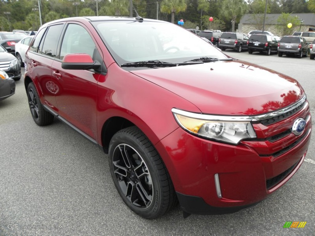 ruby red 2013 ford edge sel exterior photo 72381023. Black Bedroom Furniture Sets. Home Design Ideas