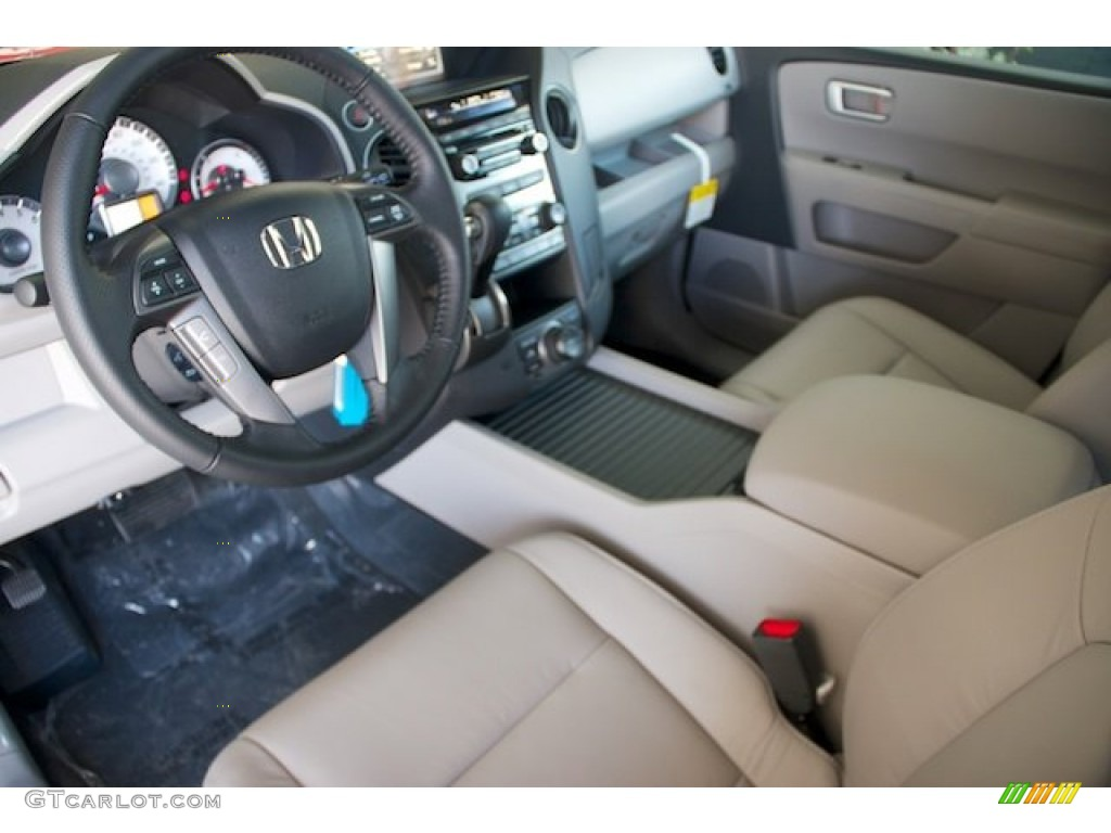 Gray Interior 2013 Honda Pilot Ex L Photo 72383455