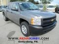 2012 Graystone Metallic Chevrolet Silverado 1500 Work Truck Crew Cab 4x4  photo #1