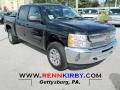 2012 Black Chevrolet Silverado 1500 LS Crew Cab 4x4  photo #1