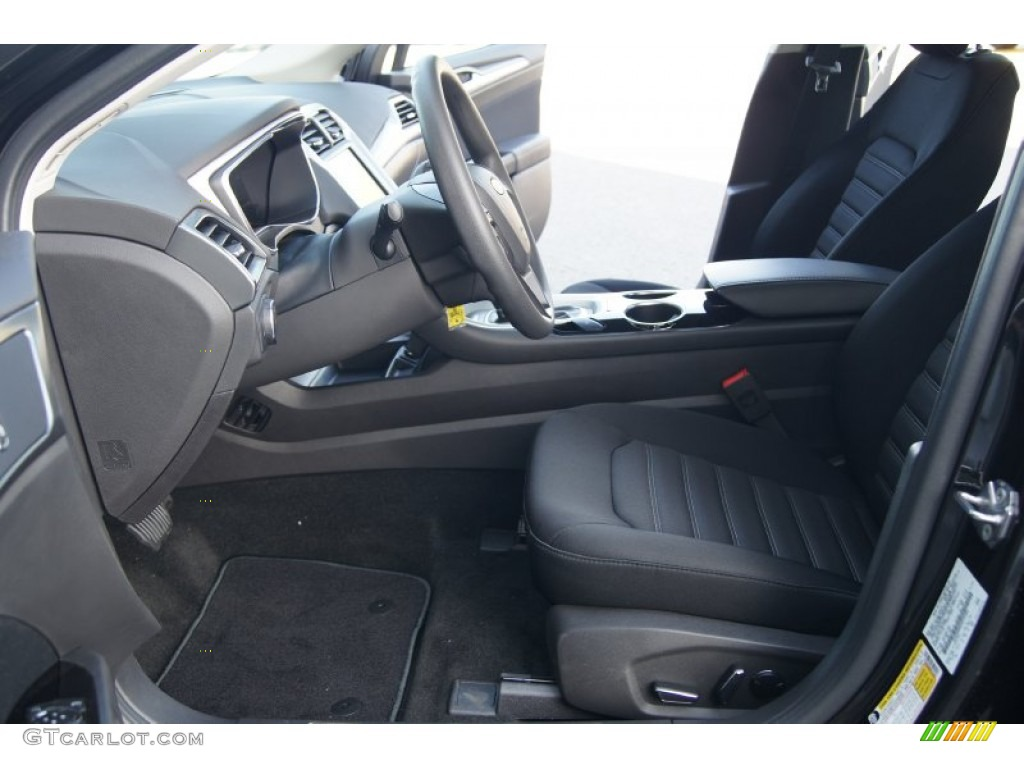 Charcoal Black Interior 2013 Ford Fusion Se 1 6 Ecoboost Photo 72393586