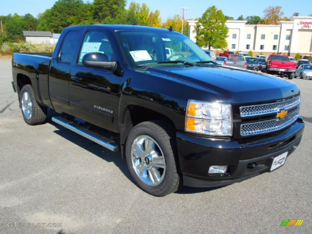2013 Silverado 1500 LTZ Extended Cab 4x4 - Black / Light Titanium/Dark Titanium photo #1