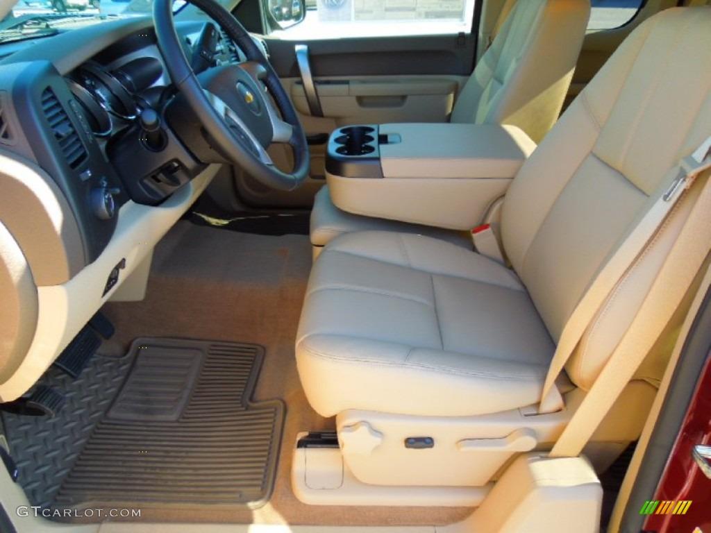 2013 Silverado 1500 LT Extended Cab - Deep Ruby Metallic / Light Cashmere/Dark Cashmere photo #8