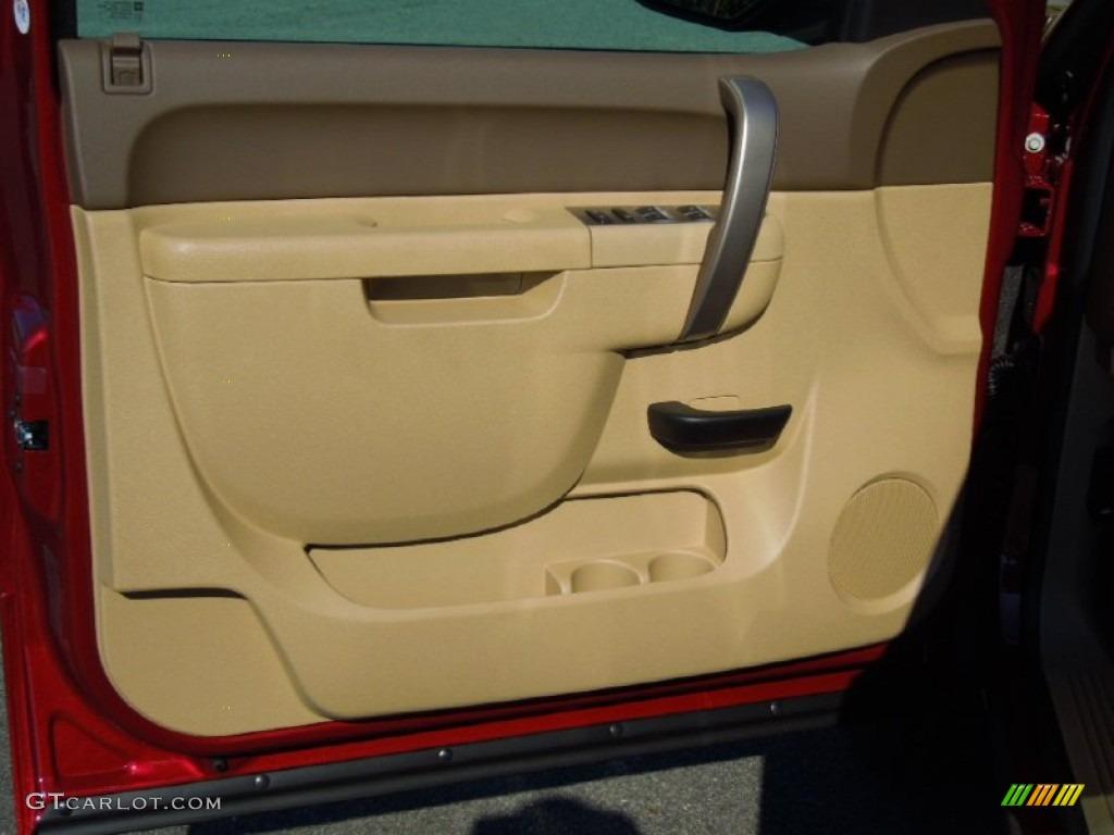 2013 Silverado 1500 LT Extended Cab - Deep Ruby Metallic / Light Cashmere/Dark Cashmere photo #10