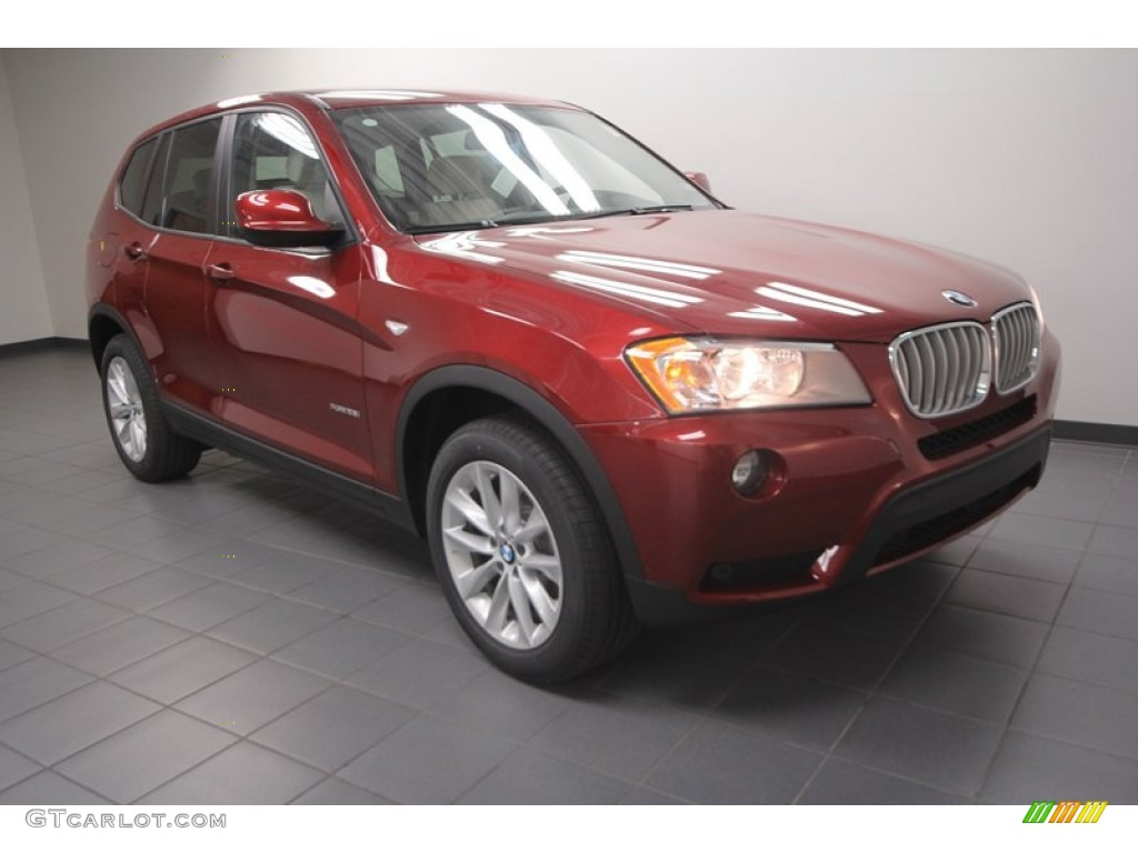 vermillion red metallic 2013 bmw x3 xdrive 28i exterior photo 72399733. Black Bedroom Furniture Sets. Home Design Ideas