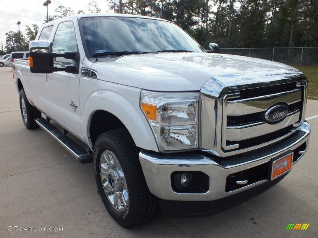 2012 white platinum metallic tri coat ford f250 super duty lariat crew cab 4x4 72398469. Black Bedroom Furniture Sets. Home Design Ideas
