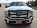 2012 White Platinum Metallic Tri-Coat Ford F250 Super Duty Lariat Crew Cab 4x4  photo #10