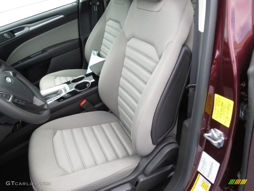 Earth Gray Interior 2013 Ford Fusion S Photo 72409644