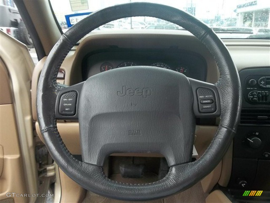 2000 jeep grand cherokee laredo camel steering wheel photo. Black Bedroom Furniture Sets. Home Design Ideas