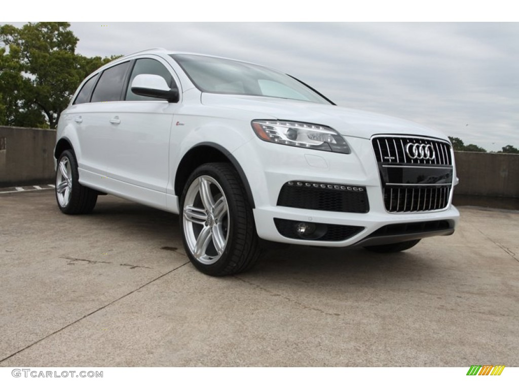 2013 glacier white metallic audi q7 3 0 s line quattro. Black Bedroom Furniture Sets. Home Design Ideas