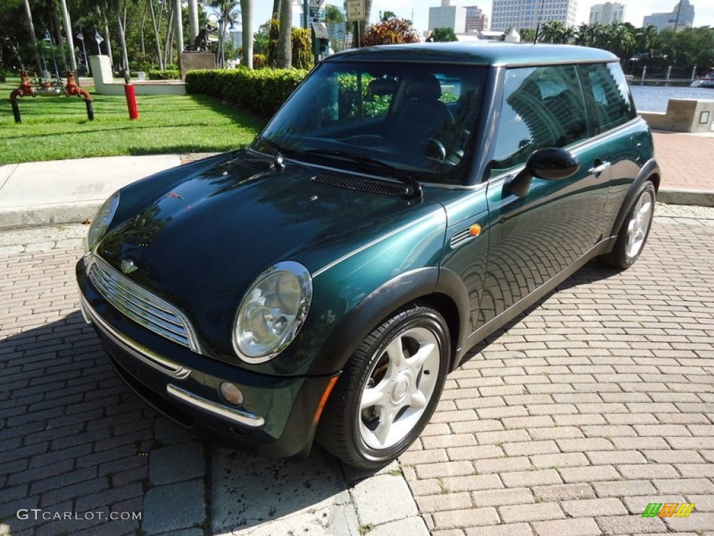 2002 british racing green metallic mini cooper hardtop #72397923