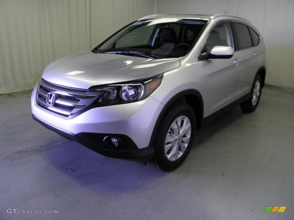 Alabaster Silver Metallic 2013 Honda Cr V Ex L Awd Exterior Photo 72440465