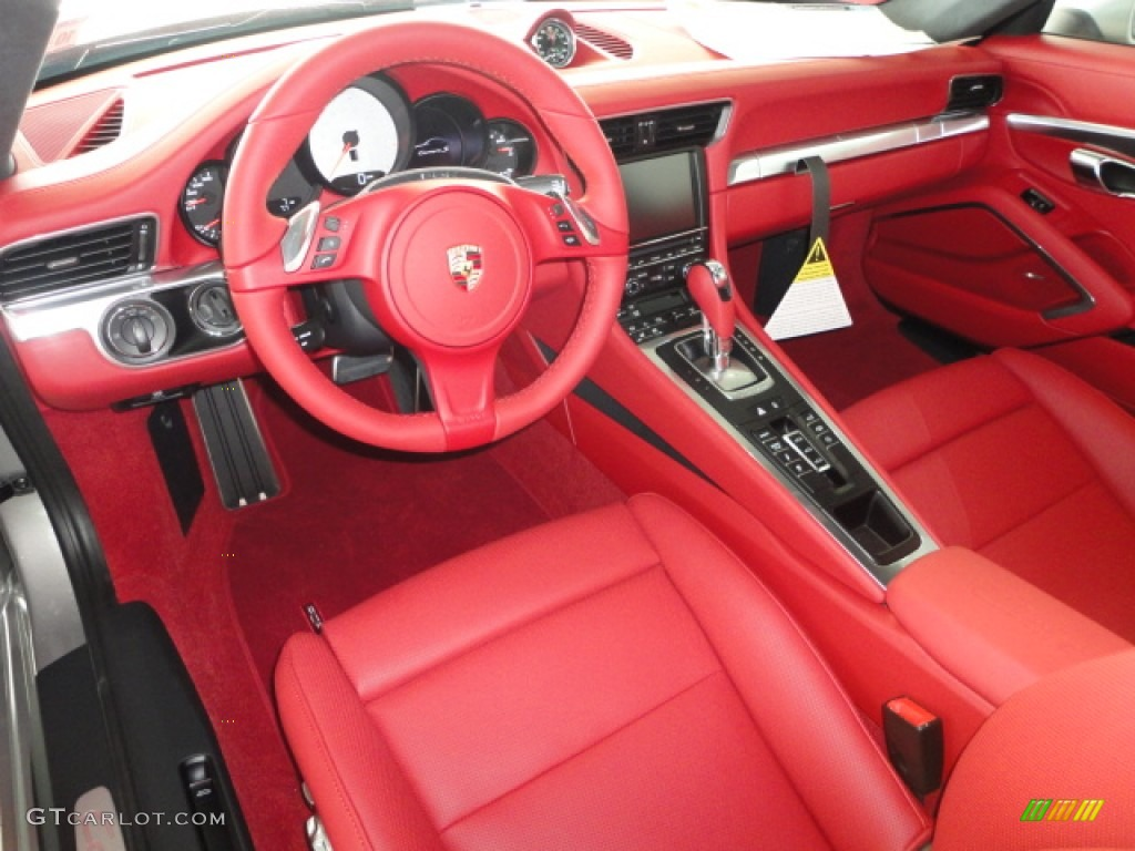 Carrera red natural leather interior 2013 porsche 911 - Porsche macan white with red interior ...