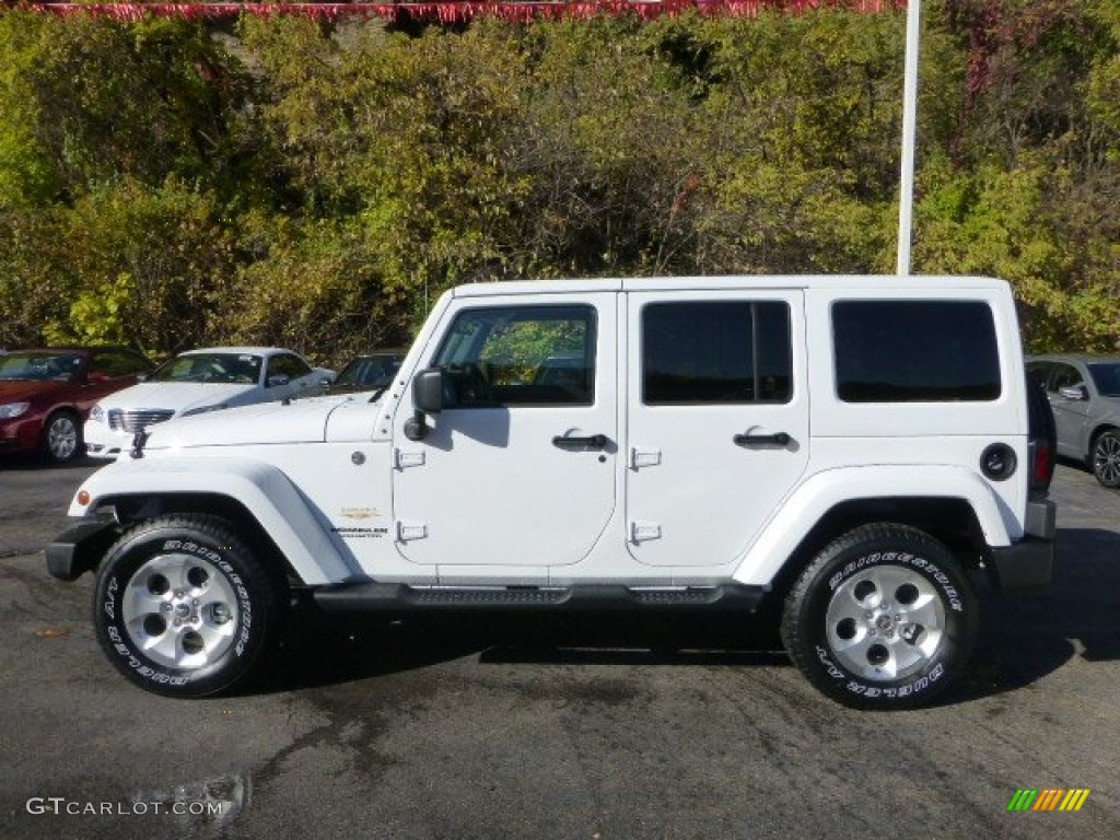 bright white 2013 jeep wrangler unlimited sahara 4x4 exterior photo 72471456. Black Bedroom Furniture Sets. Home Design Ideas