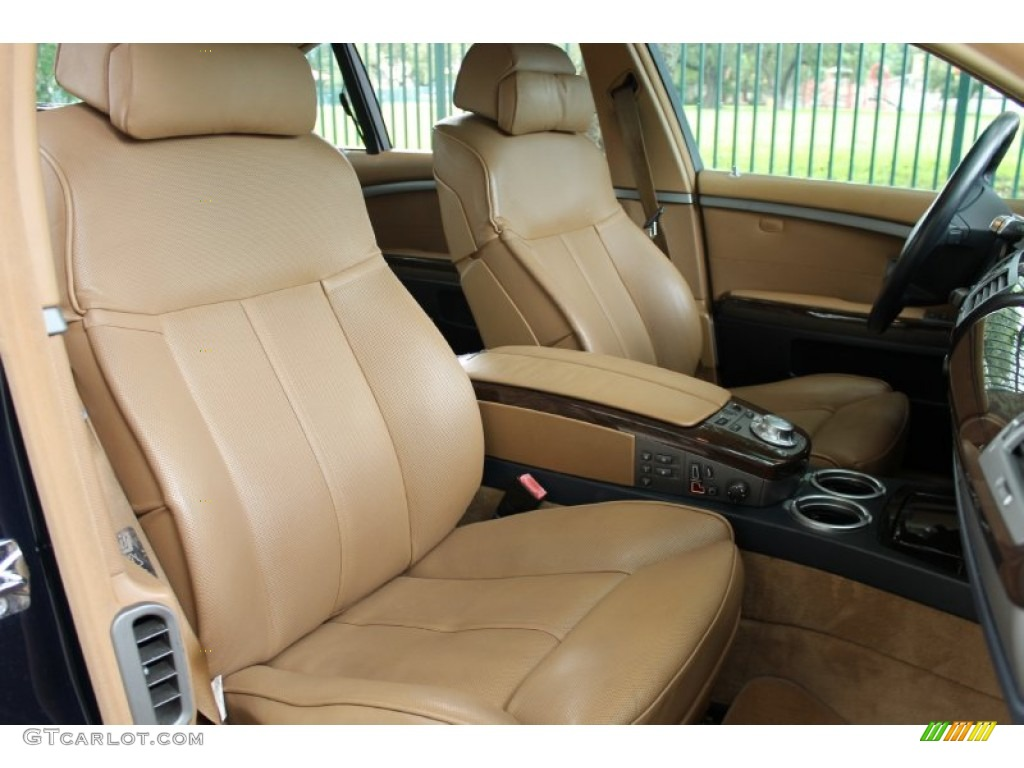 dark blue natural brown interior 2004 bmw 7 series 745li sedan photo 72476491