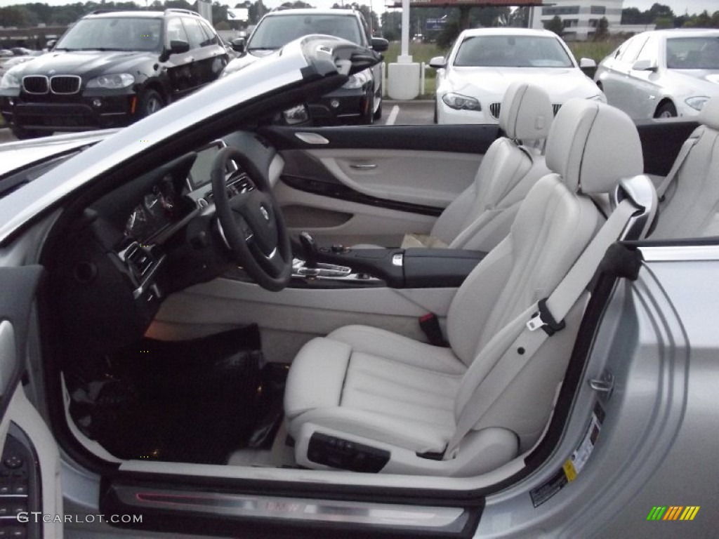 ivory white interior 2013 bmw 6 series 650i convertible photo 72492973. Black Bedroom Furniture Sets. Home Design Ideas