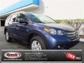 2013 Twilight Blue Metallic Honda CR-V EX-L AWD  photo #1