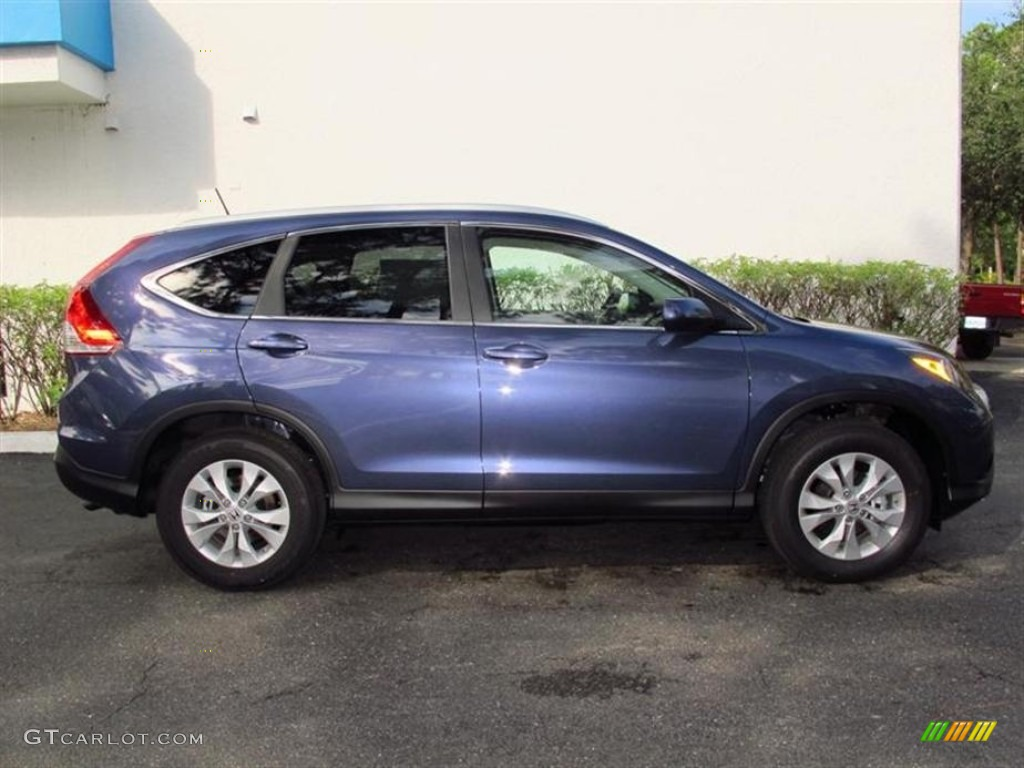 Twilight Blue Metallic 2013 Honda Cr V Ex L Awd Exterior Photo 72494890