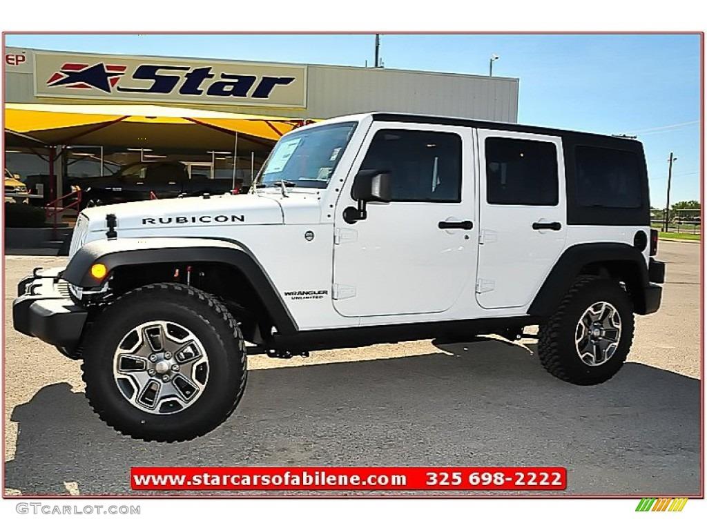 2013 bright white jeep wrangler unlimited rubicon 4x4 #72470218
