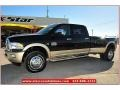Black 2012 Dodge Ram 3500 HD Laramie Longhorn Crew Cab 4x4 Dually