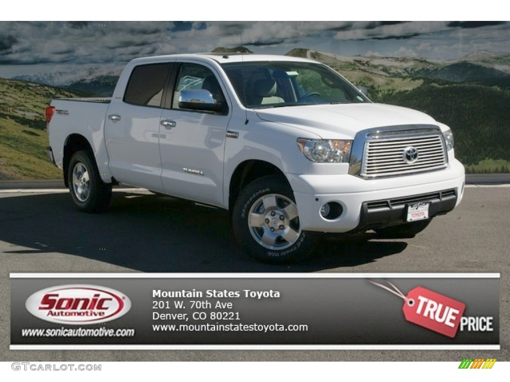 2013 Tundra Limited CrewMax 4x4 - Super White / Sand Beige photo #1